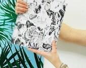 SALE - Monogram iPad sleeve - fancy