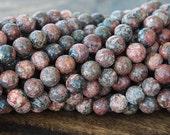 Leopard Skin Jasper Beads, 10mm Round - 15 inch strand - eGR-JA003-10