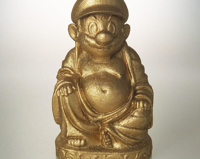 Mario Buddha (Gold Glitter)