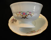Pink Rose Tea Cup,Wawel Royal Vienna White Tea/Coffee Cups with Saucers, Made in Poland, Tea Party