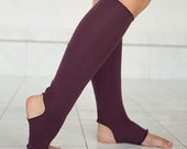 NEW! Burgundy Yoga Socks - Yoga Dance Leg Warmers - Yoga Spats - Yoga Accessories