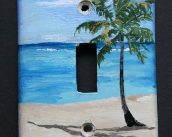 Palm Tree Light Switch Plate
