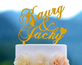 Wedding Cake Topper Monogram Mr and Mrs cake Topper Design Personalized with YOUR Last Name 012
