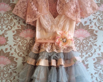 ballerina pink lace tulle shrug by mermaid miss k