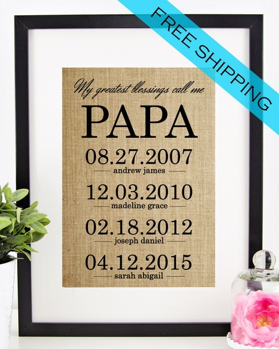 Personalized Papa Gift Father 39 S Day Gift For Grandfather