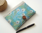 Book Style Kindle Cover in LIberty of London Hera Printed Cotton Lined with Irish Linen