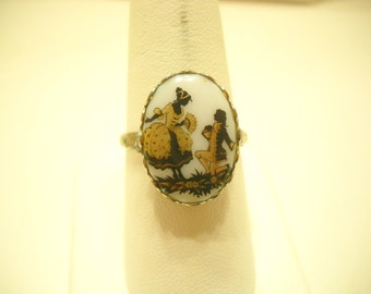 Vintage Rococo Adjustable Ring (535) Gorgeous!
