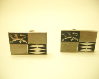 Vintage Etched Cuff Links (679BP)