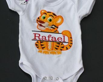 Baby Animal Birthday Shirt, Safari Birthday Shirt,  Safari Birthday Outfit, Personalized Birthday Shirt, First Birthday Shirt, Embroidered