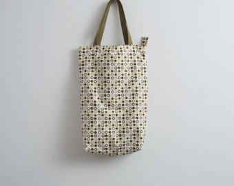 Tote Bag Canvas Tote Bag Polka Dot Tote Bag Every Day Bag Casual Hipster Bag Minimalist Tote Geometric Print Natural Khaki Bag Gift For Her