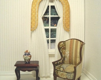 Made-to-order, Paladium drapery for the dollhouse