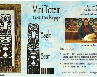 Mini Totem Eagle Bear Laser Cut Quilt Kit DIY Quilting Appliqué Only