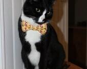 Cat Bow Tie, Cat Accessory, Dog Bowtie, Cat Costume, Pet Bowtie, Collar Accessory, Handmade in Canada, Fox