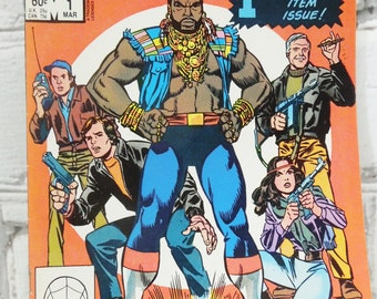 The A Team. Marvel Comic Book. Volume 1 Number 1. March 1984. Bronze Age. I Pitty The Fool That Doesn't Buy This Comic Book. Nerdy Gifts