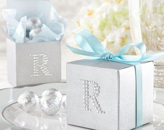 Silver Wedding Favors, Candy Favor Boxes, Silver Candy Boxes, silver favor boxes