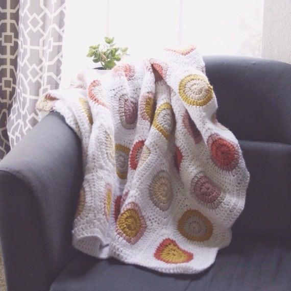 Crochet Baby Blanket. Crib Blanket. Handmade by IvoryandWool