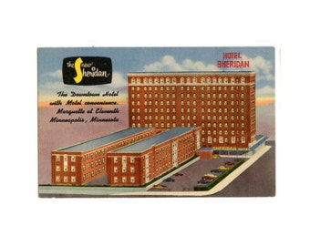 Minneapolis Postcard - Hotel Sheridan - Minnesota