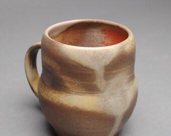 Clay Coffee Mug Beer Stein Wood  Soda Fired B67