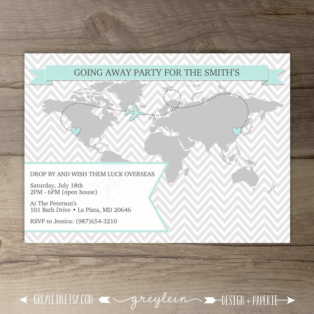 Going Away Party Invitations  World Map Goodbye Party Invites. Free Graphics Design Template. Free Certificate Of Completion Template. Word Wedding Program Template. Sign Up Sheets Template. Fake Prescription Label Template. Movie Poster Design Template. High School Graduation Photos. Free Lower Thirds Template