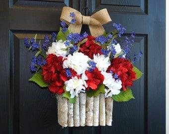 spring wreath summer wreath patriotic wreaths front door wreaths decorations wreaths gift ideas 4th of July