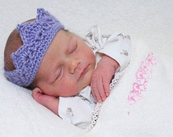 Baby's Crocheted Princess Crown