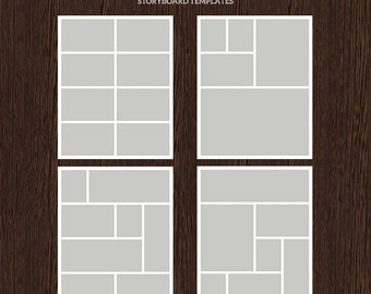 16x20 Photo Storyboard Templates - Photo Collage Template - PSD Template - Resize to 8x10 - For Photographers - Instant Download - S217