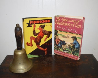 Classic Books: The Adventures of Huckleberry Finn, and Pinocchio