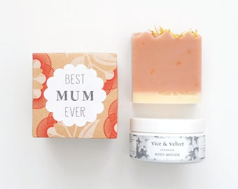 Best Mum Ever / Best Mom Ever Gift Set - Soap and Body Mousse