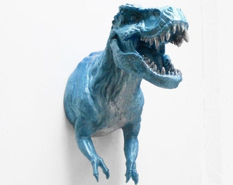 Animal Head, T Rex, Dinosaur, Faux Taxidermy, Dinosaur Sculpture, Dinosaur Head, Taxidermy, Wall Mount,Dinosaur Decor, Boy's Decor, Man Cave