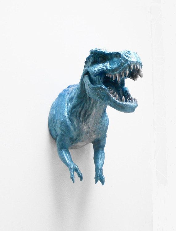 T te danimal t rex dinosaure taxidermie faux sculpture - Tete d animal murale ...