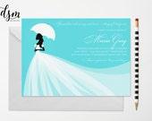 Elegant Christian Bridal Shower Invitation - Southern Belle