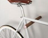 wooden bike hook // BLACK WALNUT // COPPER
