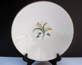 """Knowles China Accent Shape Forsythia Pattern - Freda Diamond Design - Large Round Vegetable Serving Bowl 10"""""""