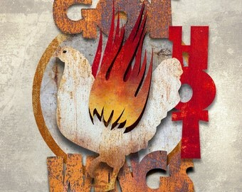 Got Hot Wings Metal Wall Art