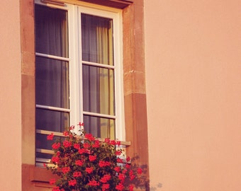 Fiery Sunset, France Photography, Window Photography, Travel Photography, Art Print, Wall Decor