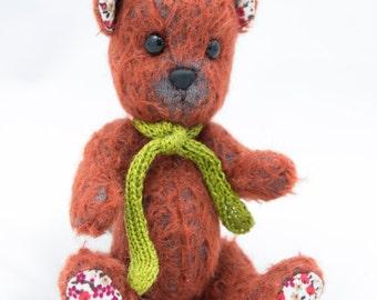 "OOAK Earnest Bear by Tabbyclouds ""Tyrion"" ( Mohair Collector Artist )"