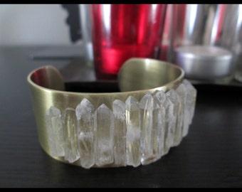 Quartz Cuff Bracelet