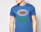 Fire Flower T Shirt, Tee, Super Mario, Mario Bros, NES, Nintendo Shirt, Flower Shirt, Flower Power, Retro Apparel, Vintage Tee, Mario Shirt