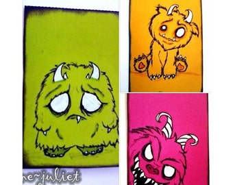 Colourful Monster ACEO / ATC