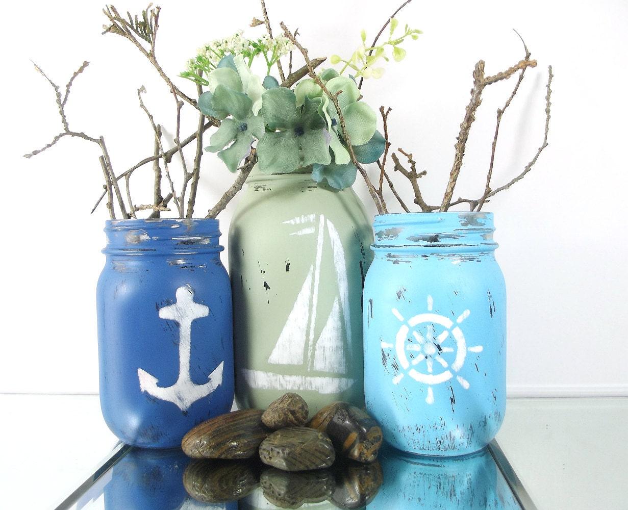 beach decor nautical beach decor ideas mason jar decor. Black Bedroom Furniture Sets. Home Design Ideas