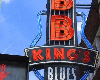 B B Kings Blues Club, Fine Art Photography, Blues Music, B B King.. Beale Street, Memphis Music