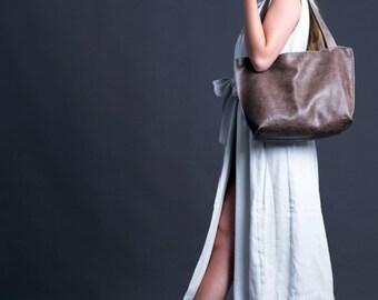 Woman Leather Bag - Shoulder Bag - Leather Tote - Large Leather Bag - Elegant look - Office Bag - SHIRI Bag / Tiger Leather