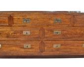 SUMMER SALE! Henredon Oak Campaign-Style Dresser