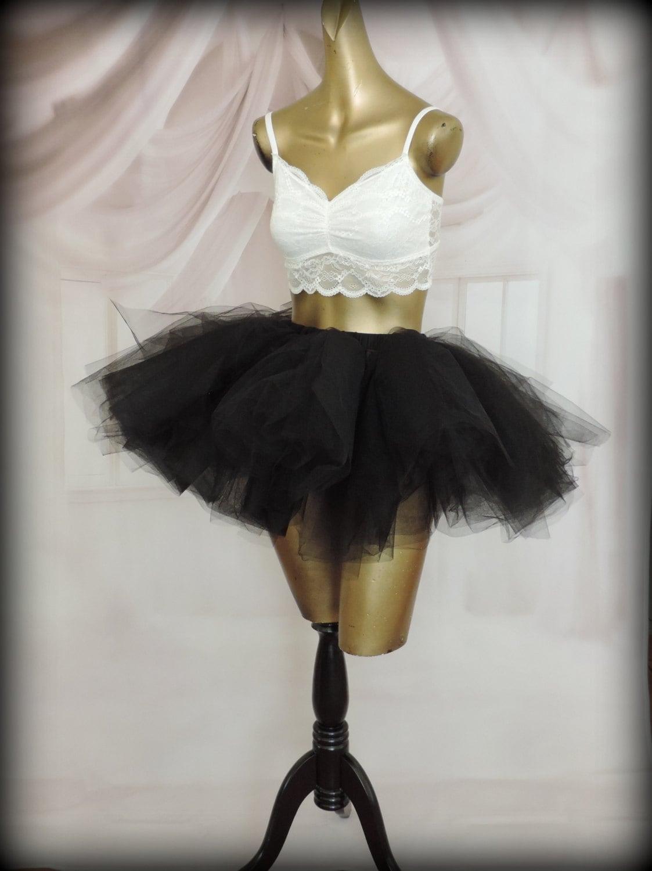womens tulle skirt tutu skirt black tulle skirt by