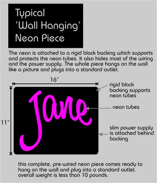 Custom Neon Wall Hanging Name Letters Or Words Art Sculpture