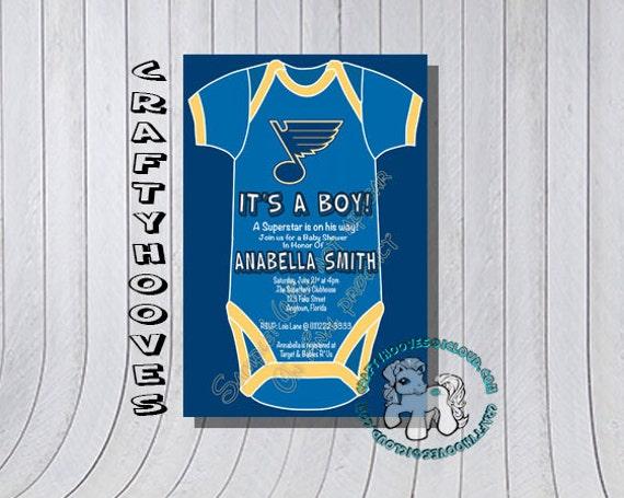 St Louis Blues Hockey Missouri Baby Shower U Print Custom