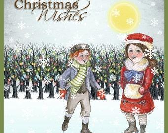 Handmade 6x6 Size Digitally Designed Christmas Cards