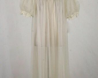 1960s Sheer Nylon Robe by Shadowline