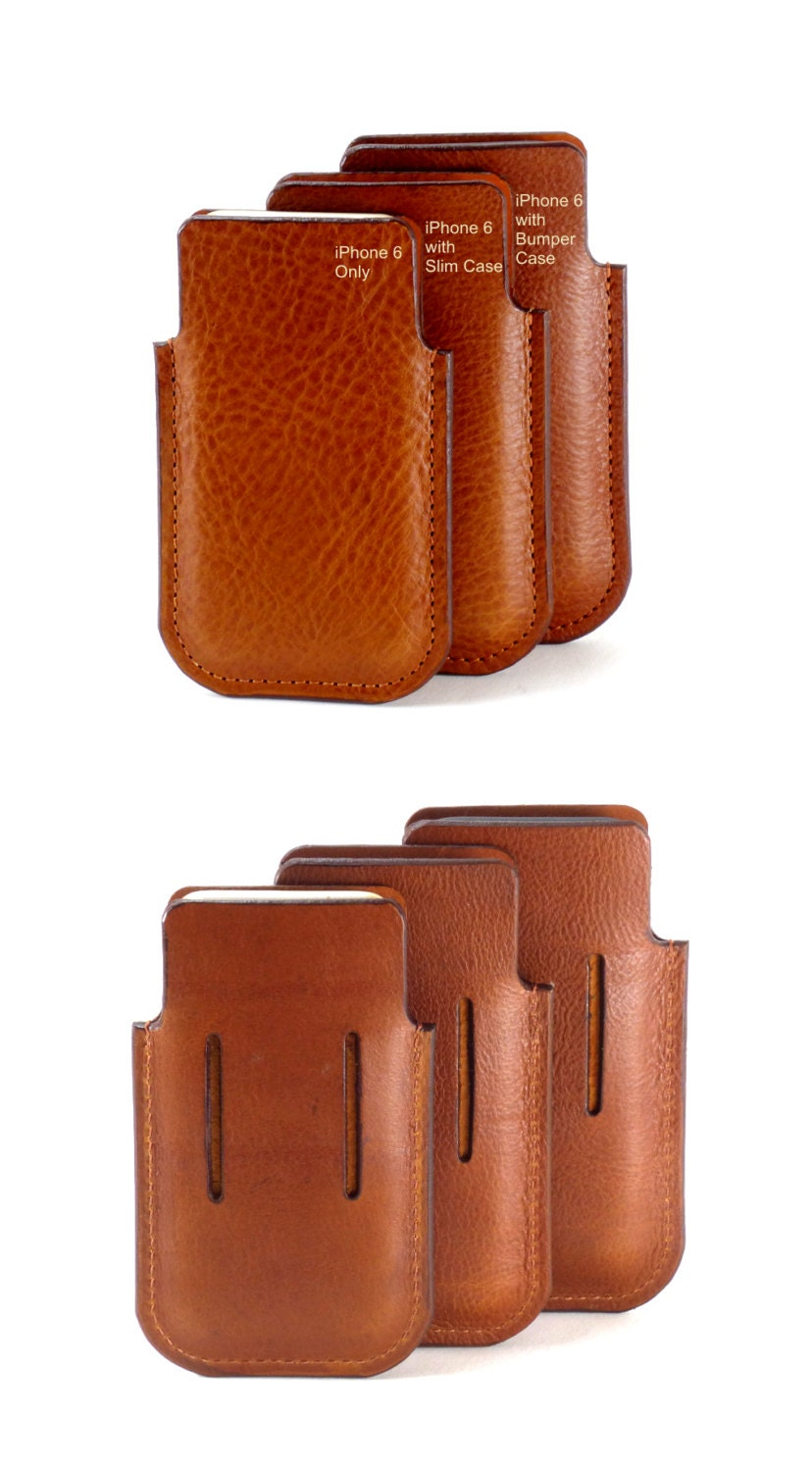 leather iphone 6 7 holster in 3 sizes with integral belt loop