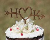 Rustic Wedding Arrow Cake Topper | Custom Cake Topper | Beach Wedding | Bridal Shower Cake Topper |  Rustic Country Chic Wedding Cake Topper
